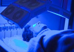 Traitement par lampe LED en dermatologie
